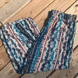 Lightweight Tribal Boho Lounge Pants